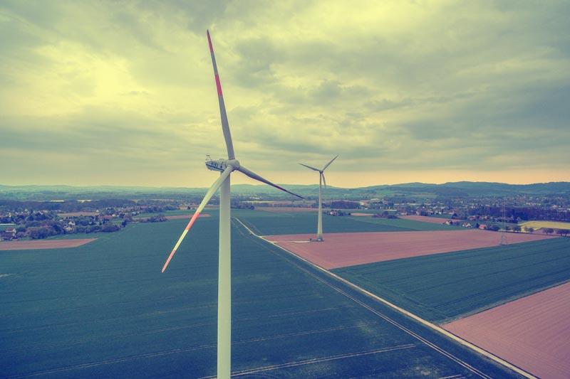 Windenergie-lufbild